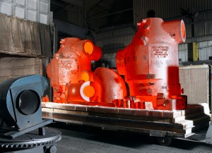 Castings_fresh_from_the_heat_treatment_furnace